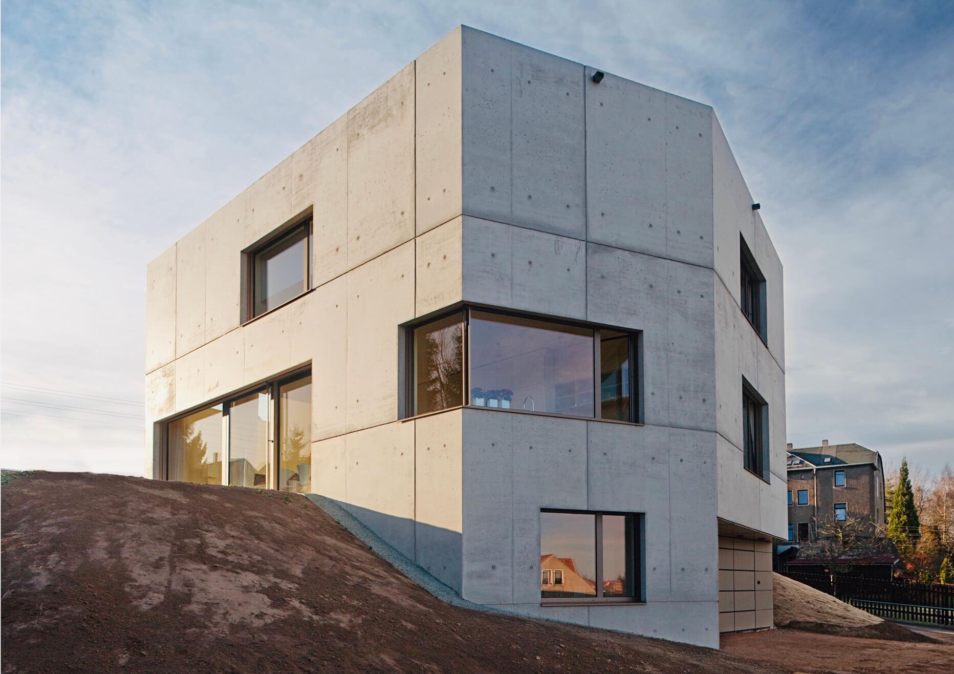 Maison Du Béton, Zwickau, Aussenansicht