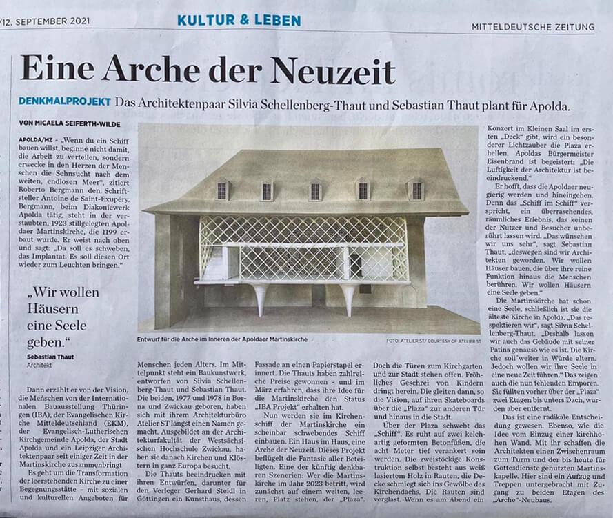 Zeitungsartikel Mitteldeutsche Zeitung